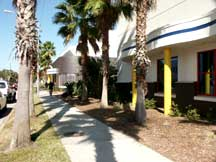 Exterior of the side of Eau Gallie Civic Center.