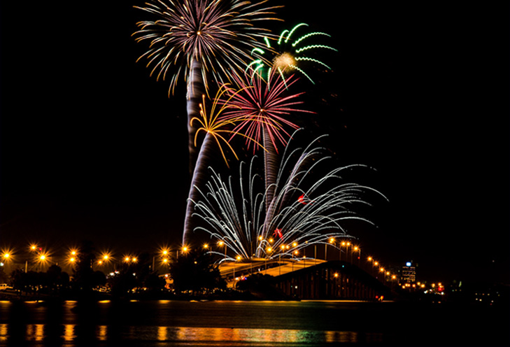 Fourth of July Fireworks & Events in the City of Melbourne