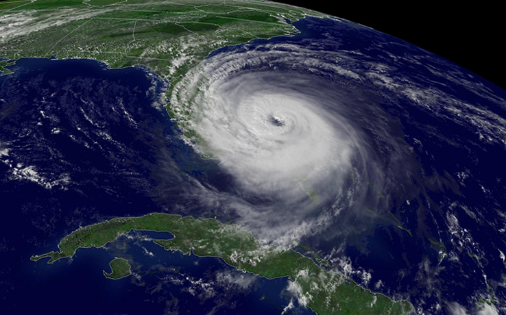 Satellite image of Hurricane Jeanne taken at 3:15 p.m. EDT, Sept. 25, 2004.