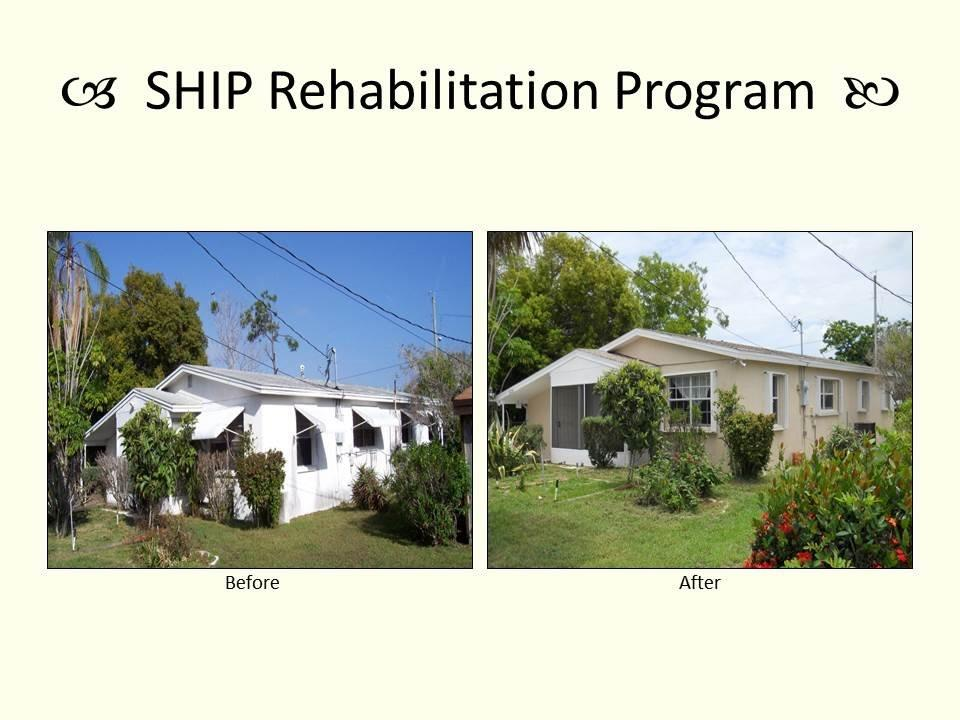 SHIP Rehabilitation Program before and after photo.