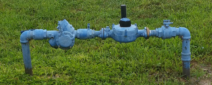 "2"" potable water meter and 2"" Reduced Pressure Principle Backflow Prevention Assembly"