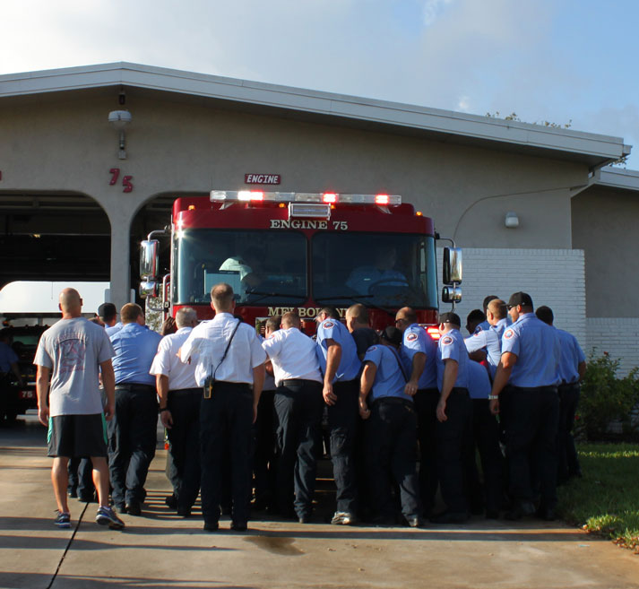 "Fire Department Dedicates New Fire Engine With Traditional ""Push In"" Ceremony"