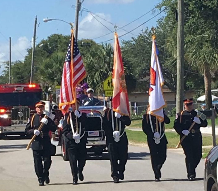Melbourne Fire Department Honor Guard in parade