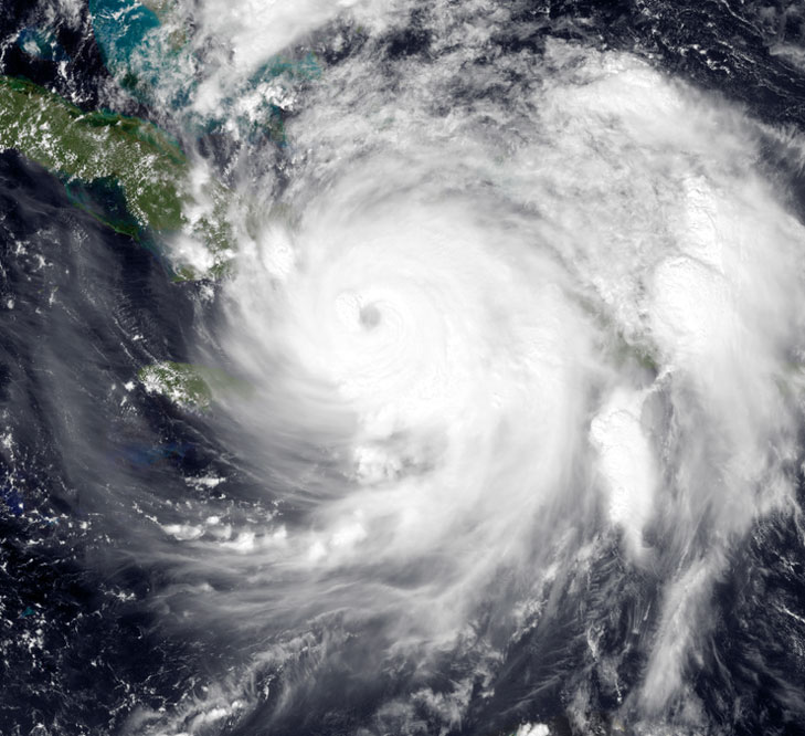 Hurricane Matthew Satellite Image Oct 4