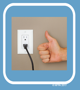 Image showing a plug in a socket with a thumbs up sign next to it