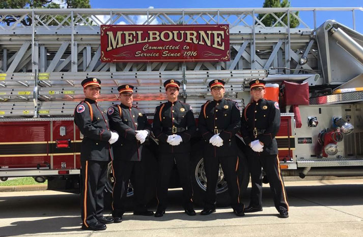 Melbourne Fire Department Honor Guard 2018