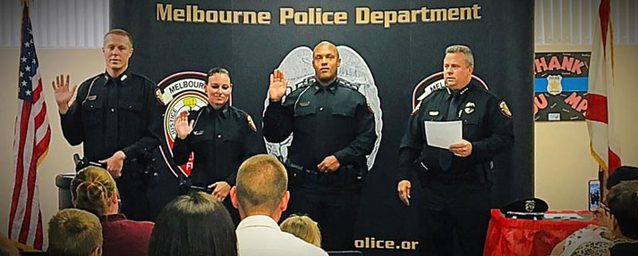 New Melbourne Police Officers Swearing In Ceremony