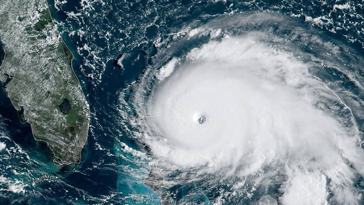Hurricane Satellite Image of Hurricane Dorian Over the Bahamas